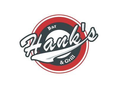 Hanks Bar & Grill creation digital art photoshop illustrator adobe vector graphic  design branding design logo
