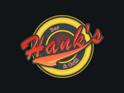 Hanks Bar & Grill digital art creation photoshop graphic  design vector branding illustrator adobe design logo