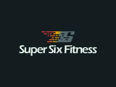 Super Six Fitness digital art photoshop graphic  design illustrator adobe creation vector branding design logo