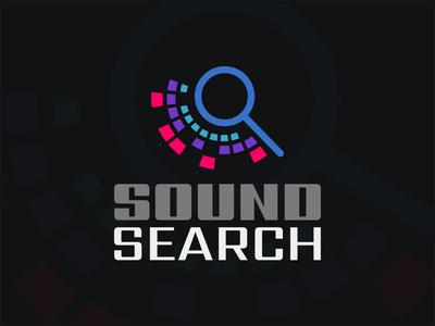 Sound Search digital art creation photoshop graphic  design illustrator adobe vector branding design logo