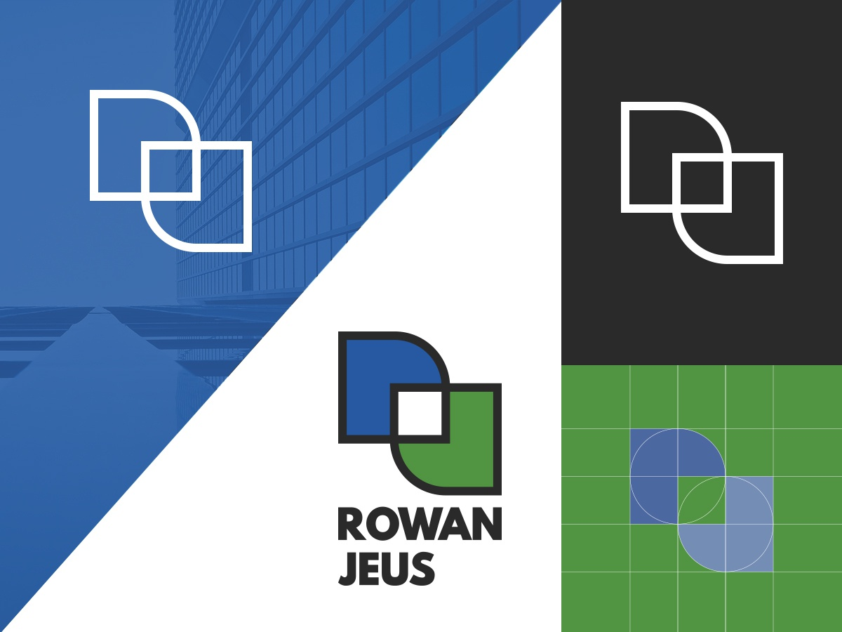 Rowan Jeus Monogram creation graphic  design mark photoshop illustrator branding vector design monogram logo