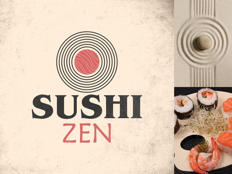 Sushi Zen Logo logo core zen sushi creation digital art graphic  design illustrator adobe design logo 30 day challenge