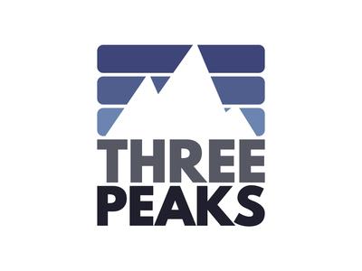 Three Peaks three peaks digital art creation graphic  design vector branding illustrator adobe design logo