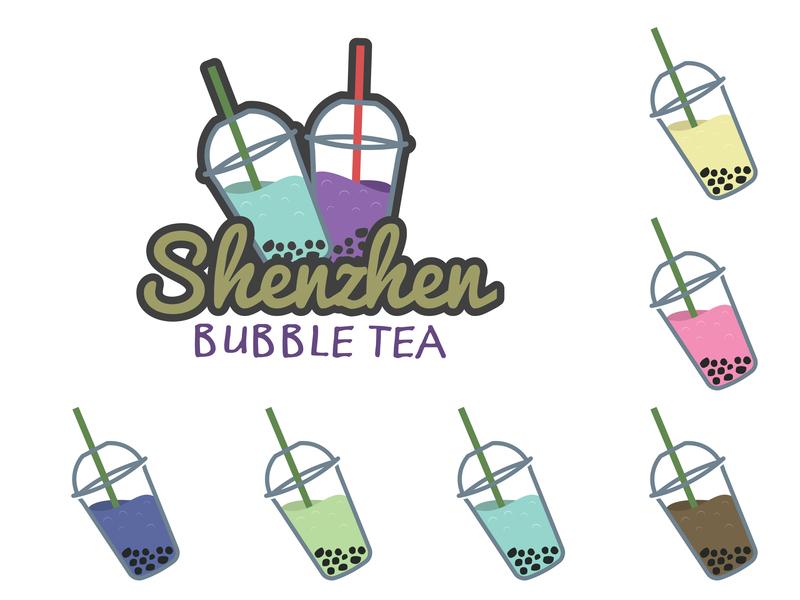 Shenzhen Bubble Tea Logo creation branding adobe 30 day challenge digital art vector graphic  design illustrator design logo