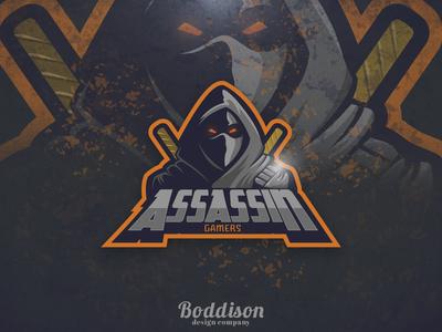 Assassin Gamers Esports Logo digital art photoshop vector illustrator adobe design esports logo esports graphic  design logo