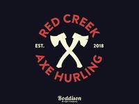 Red Creek Axe Hurling Logo