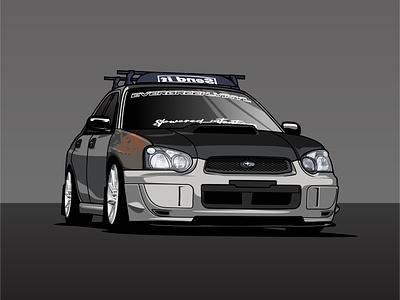 Subaru Impreza design graphics vector illustration car