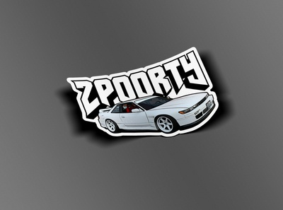 2poorty Silvia Sticker