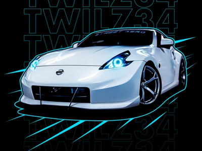 370Z Illustration affinityphoto affinitydesigner jdm automotive painted graphic tee tshirt illustration car 370z