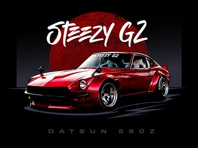Datsun 260Z z30 tunercar design jdm illustration car 260z datsun