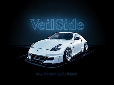Nissan 370Z imports cars digital digital illustration digital painting import car nismo illustration car 370z nissan