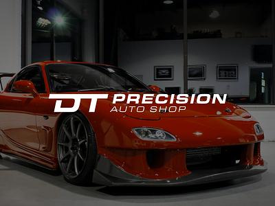 DT Precision Auto Shop side project dom torreto fast and furious automotive performance logodesign apparel automotive rebrand logo
