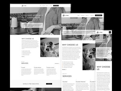 Get Polished Cleaning Website branding ux ui elementor responsive responsive design wordpress webdesign website