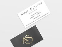 Aundra Skinner Interiors Business Cards