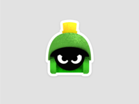 Marvin Sticker Textured