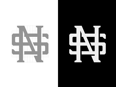 SN Monogram identity letters branding logo monogram