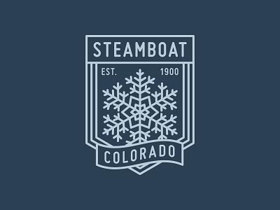 Monoline Snowflake icon logo apparel design vector tshirt design apparel graphics banner badge winter illustration monoline snowflake