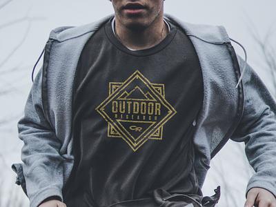 Outdoor Research Monoline Badge textures graphic design apparel monoweight monoline tshirt