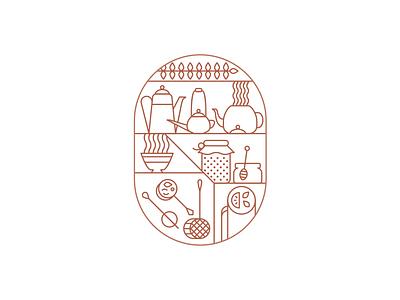 Tea Party Animation vector motion design icon illustration branding animation party tea