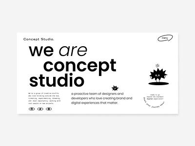 Concept Studio New Website awwwards animation ux ui layout design branding web design website illustration uiux