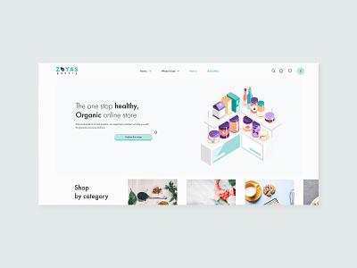 Zoyas Pantry Ecommerce Website ux logo ui layout uiux design branding web design website illustration