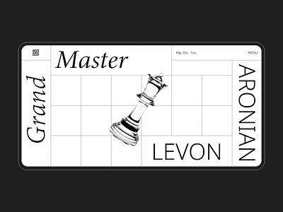Official Website of Levon Aronian ux motion design ui layout uiux design web design website illustration animation