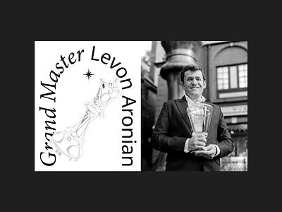 Levon Aronian Official Website website design awards awwwards chess ux ui layout uiux design web design website illustration