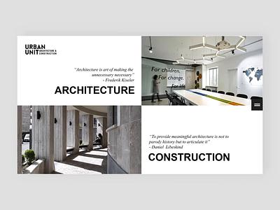 Urban Unit Website Menu Design website web webdesign menu interaction architecture urban design animation