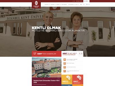 İstanbul Kent Üniversitesi solution learning landing home hero image header web design ux ui