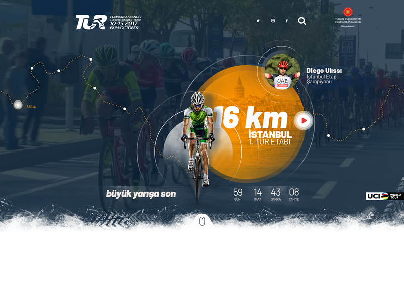Tour of Turkey 2018 ui design sport türkiye web page bike cycling tournament cycling design web design ux ui home hero image header corporate site