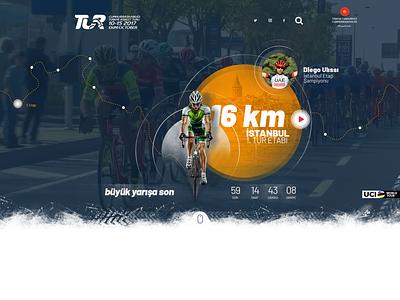 Tour of Turkey 2018 ui design sport türkiye web page bike cycling tournament cycling design web design ux ui home hero image header corporate site