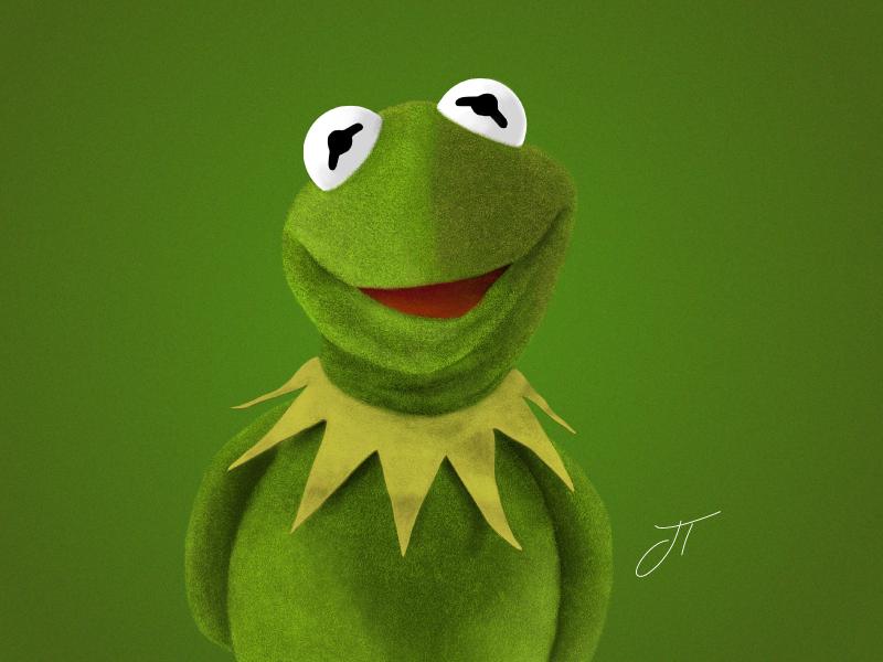 Kermit the Frog - Digital Illustration kermit the frog kermit adobe photoshop sketch apple pencil ipad pro