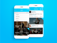 Second Screen App - Search & Feed