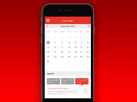 Investor Relations App - Calendar