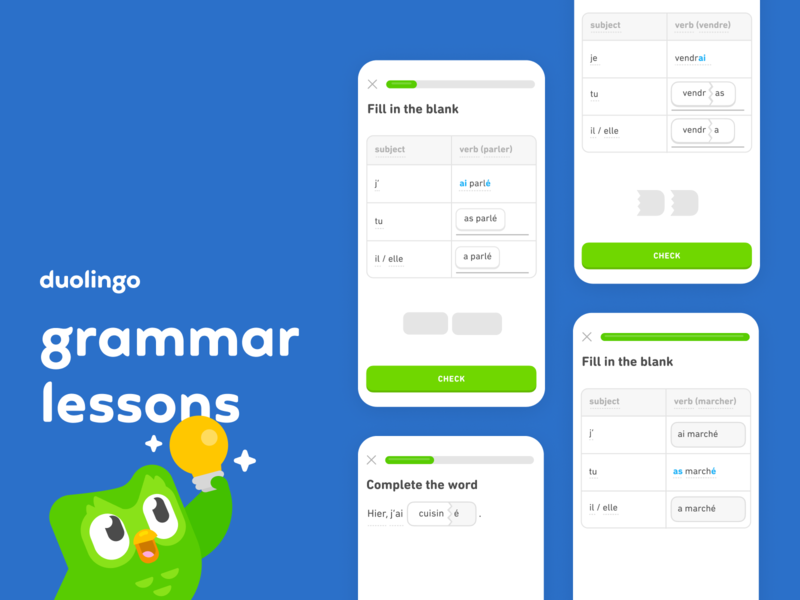French Grammar Lessons french language learning grammar duolingo