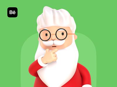 Santa Claus 3D Character Illustration illustration branding emotion santa claus xmas christmas 3d character new year 3d character 3d art cinema4d 3d illustration