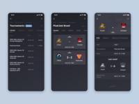 Esports mobile site design