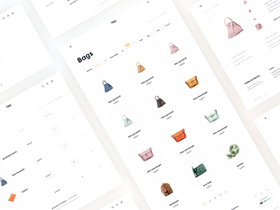Redesign for a leading independent fashion label The Black Quail web design bag shopping bag minimalism shop shopping web ux ui clean white interaction fashion label fashion cart