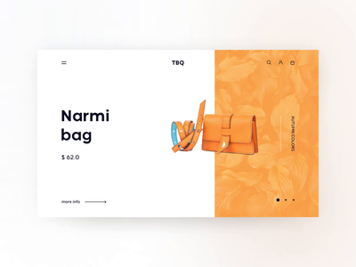 Redesign for a leading independent fashion label The Black Quail leather goods bag fashion web  design orange plant autumn price shopping clean minimalism shop color white animation aftereffects ae interaction ux ui