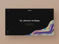 Main Page of Digital Artist's Website