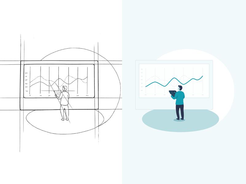 Statistics illustration design website sketches sketch illustration