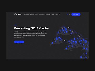 Landing header for NOIA vector website web user interface ui typography minimal isometric interface illustration design branding art header