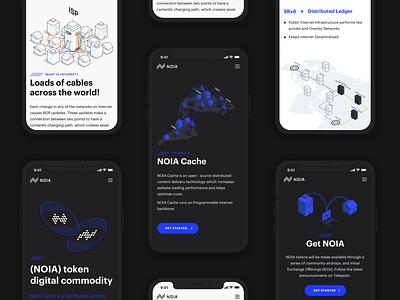 Mobile responsive website for NOIA vector website web user interface ui typography minimal isometric interface illustration branding design mobile