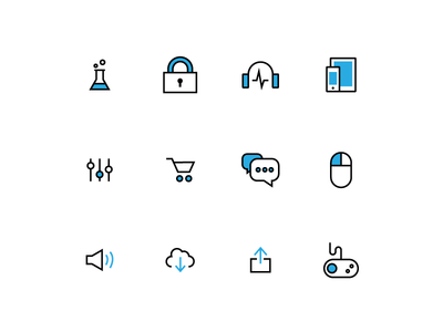 Color experiment Icons