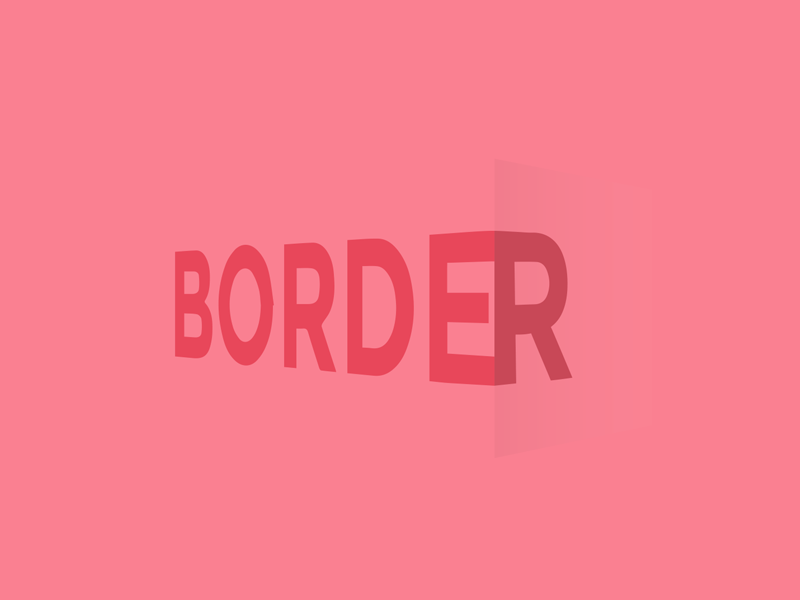 Border edge red color border type text typography