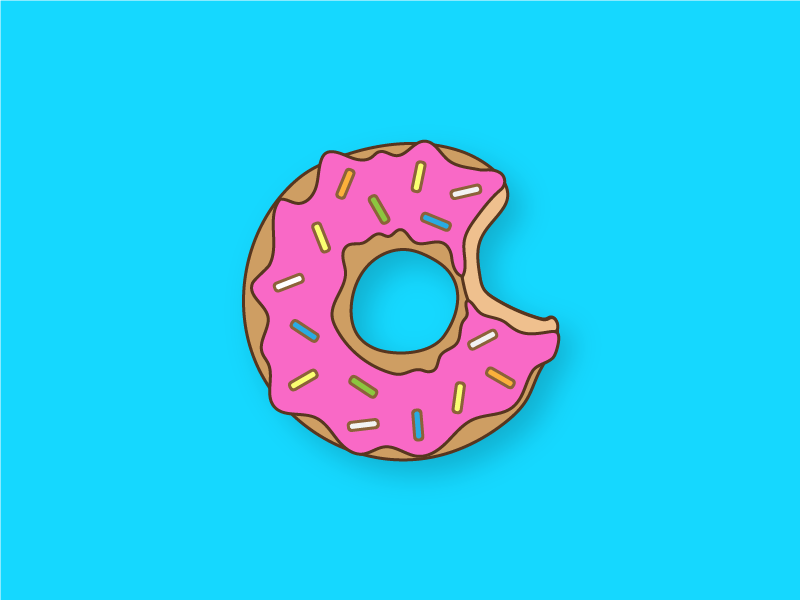 donuts are tasty hungry sprinkles cute kawaii yum donut design color line work