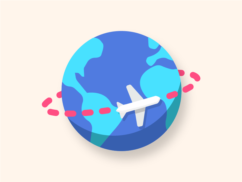 Off to go do one of my favorite things, traveling illustrator 3d 2d vector wanderlust traveling world globe airplane travel