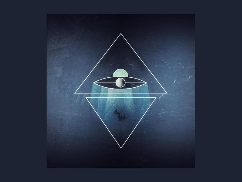 Keep your third eye open illustrator line work illuminati triangle spaceship third eye abduction aliens