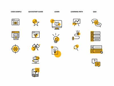 Yellow Line Icon exploration