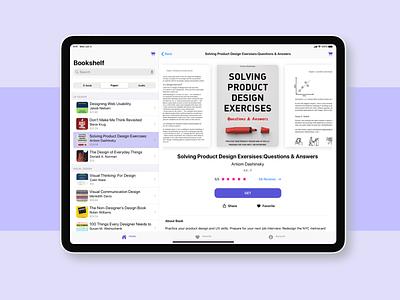 Bookshelf app - Ipad split view design sketch split ipad pro ipad app book native ios logo app user experience